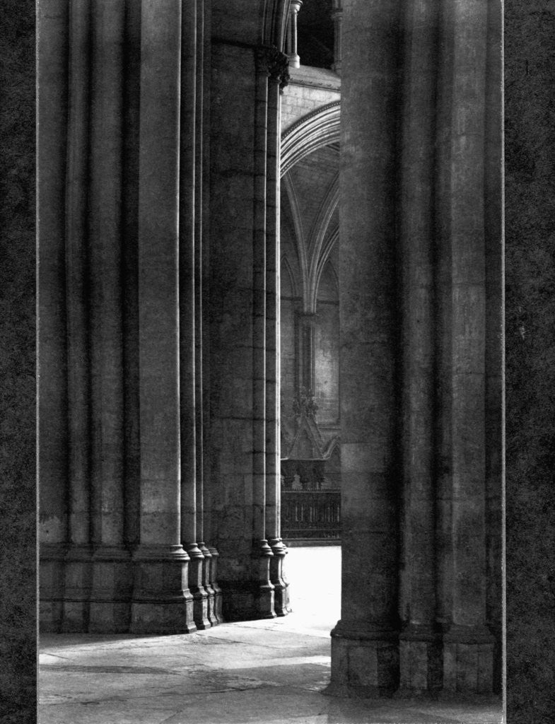 Detail of Columns of York Cathedral by Corbis