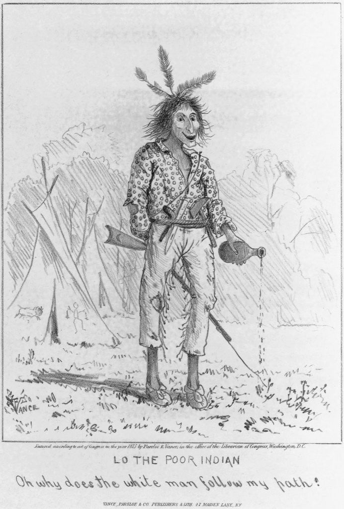 Detail of Caricature of Native North American by Corbis