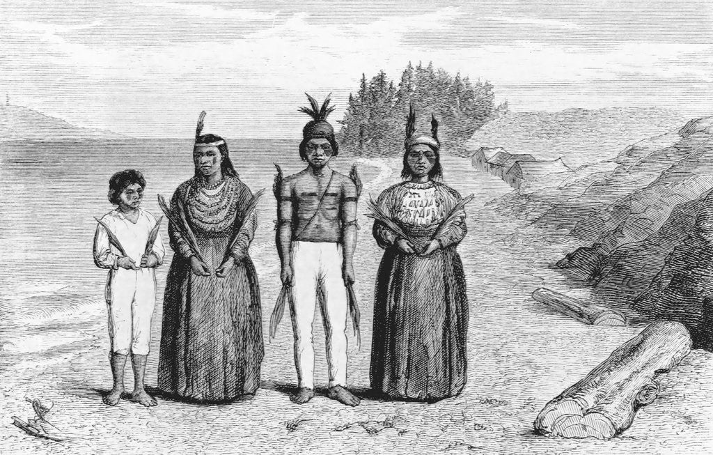 Detail of Engraving of Yaqui Indians by Corbis