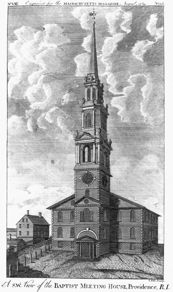 Detail of Baptist Meeting House in Providence, Rhode Island by Corbis