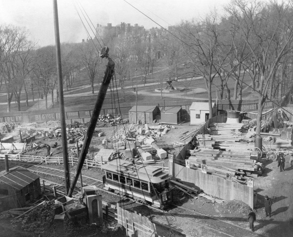 Detail of Construction on Boston Common by Corbis