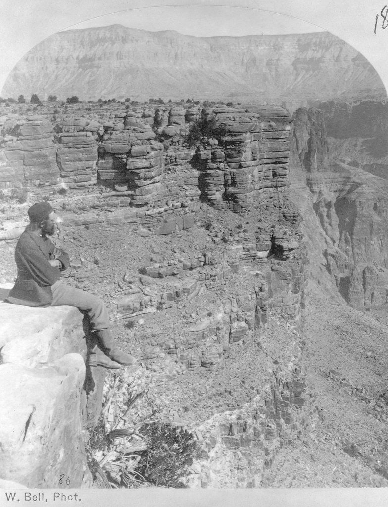 Detail of Man Looking into Sheavwitz Crossing, Grand Canyon by Corbis