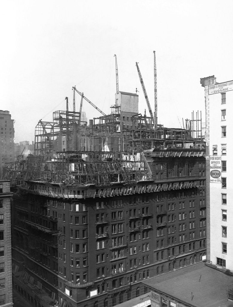 Detail of Demolition of the Waldorf-Astoria by Corbis