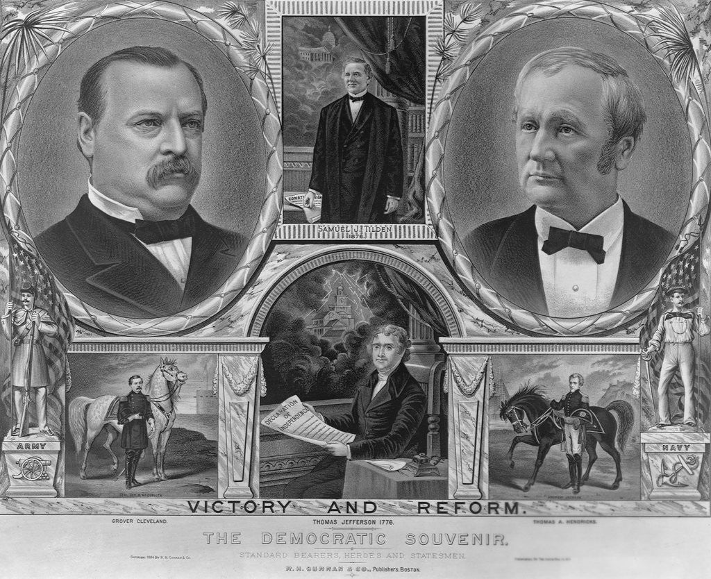 Detail of Democratic Presidential and Vice Presidential Nominees of 1884 by Corbis