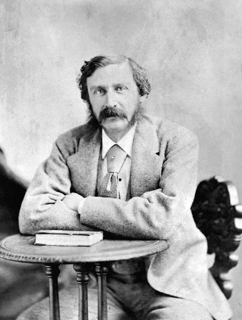 Detail of Writer Bret Harte Seated by Corbis