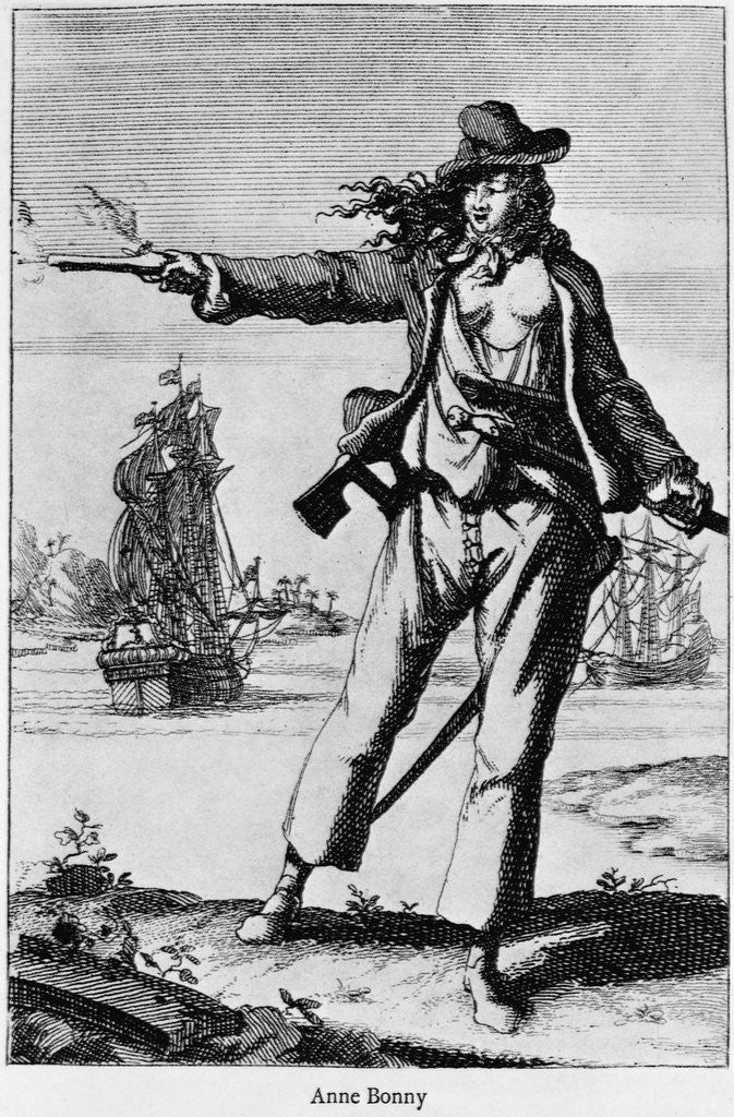 Detail of Illustration of Ann Bonney the Pirate by Corbis