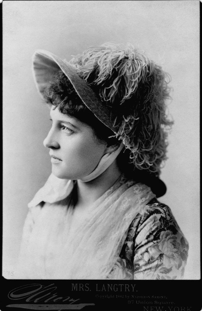 Detail of Actress Lillie Langtry by Corbis