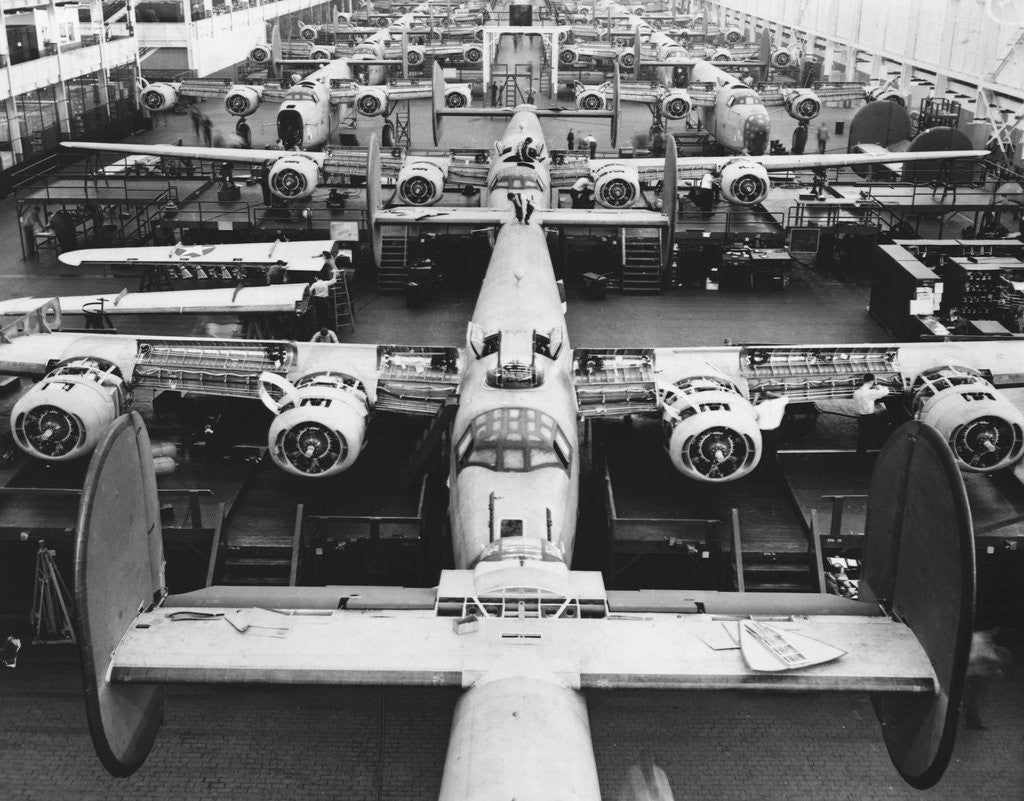 Detail of B-24s at an Aircraft Plant by Corbis