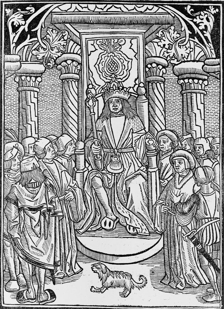 Detail of Charles VII Surrounded by His Court by Corbis