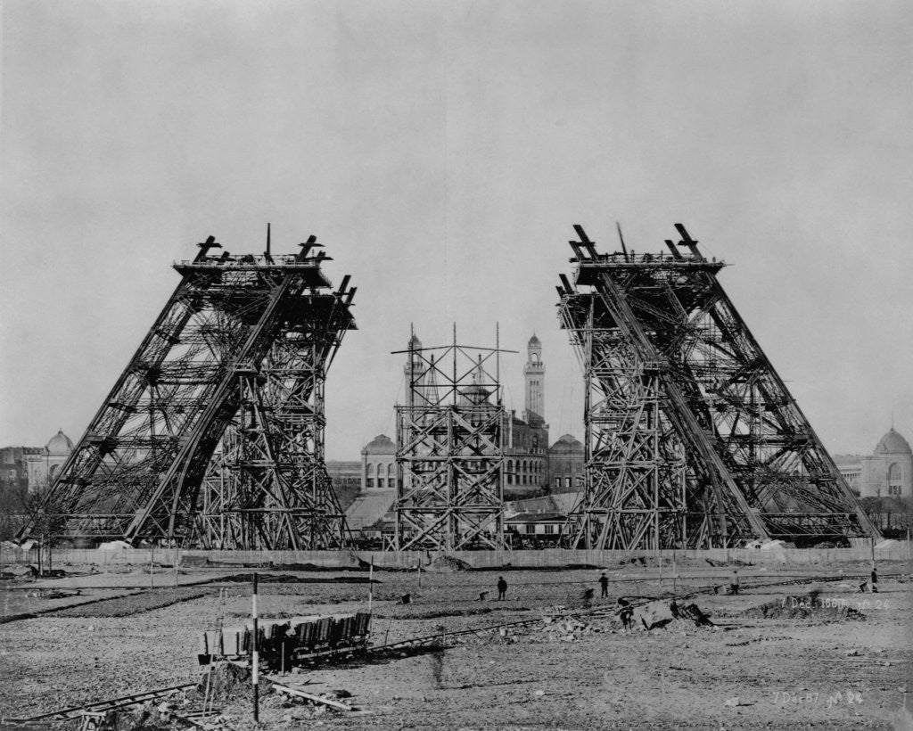 Detail of Eiffel Tower During Construction by Corbis