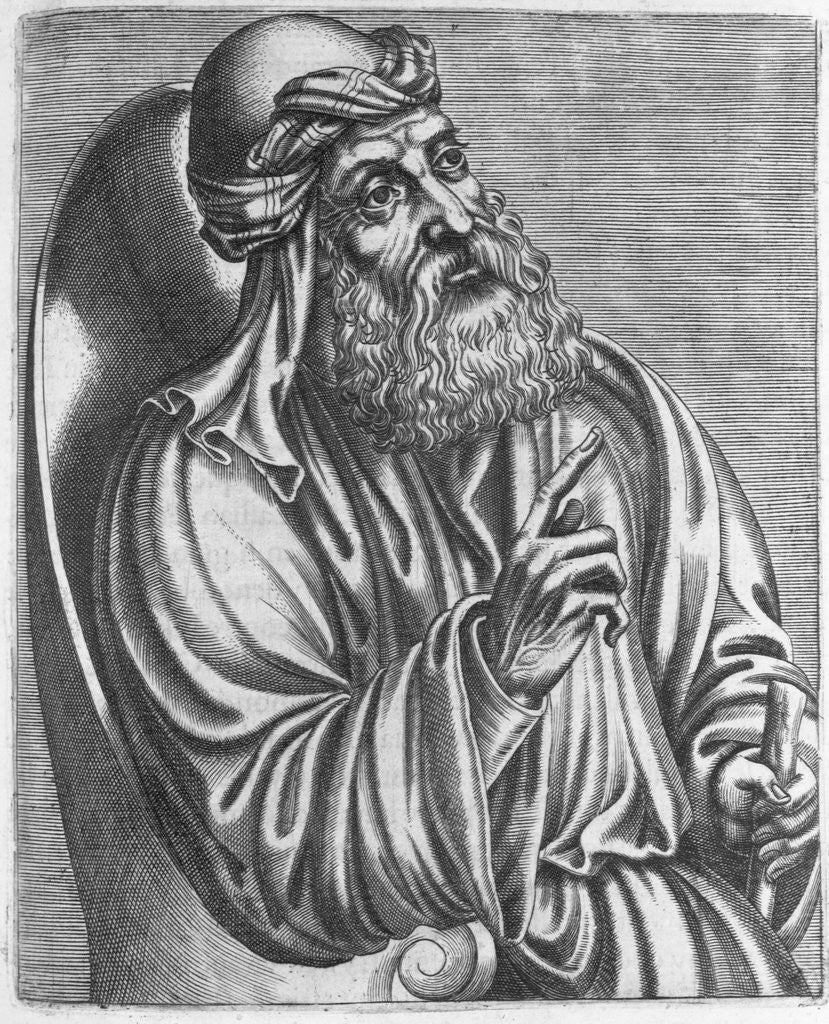 Detail of Engraving of Saint Cyril of Alexandria by Corbis