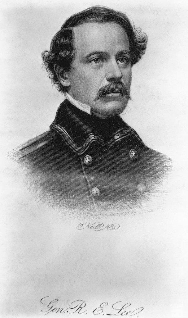 Detail of General Robert E. Lee Engraving by O'Neill