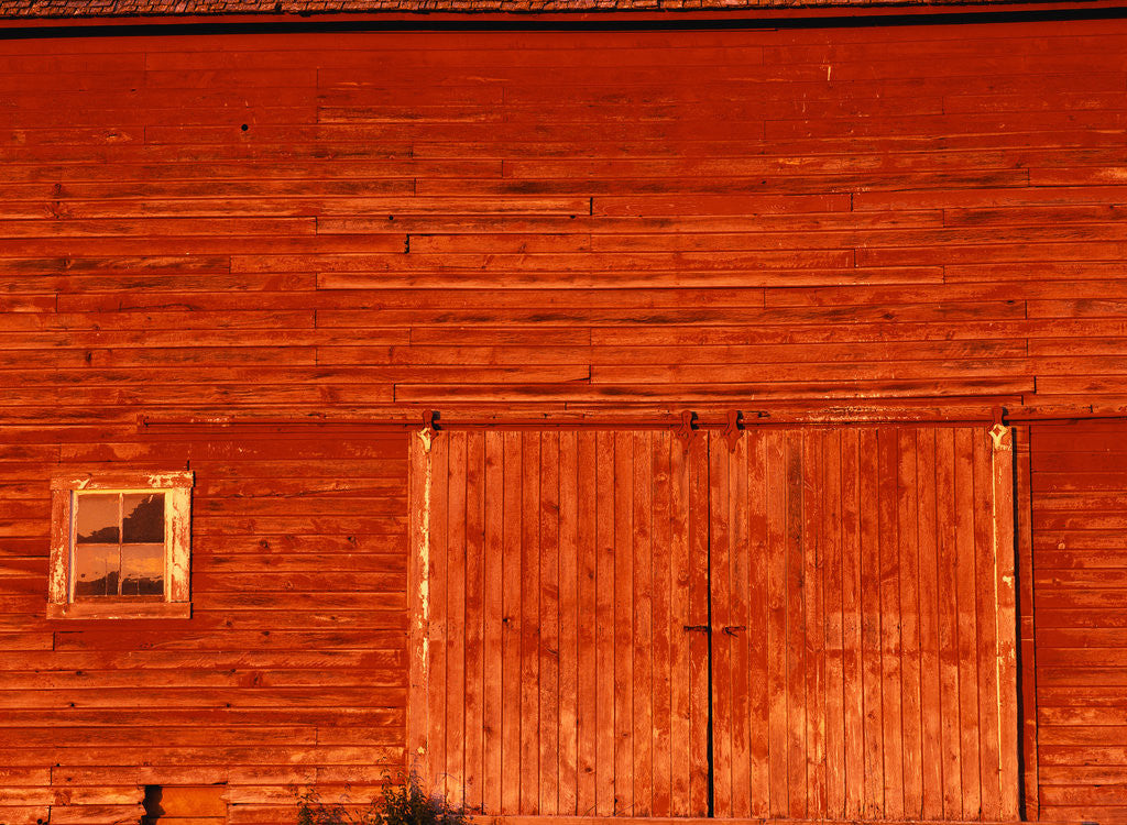 Detail of Detail of a Red Barn by Corbis