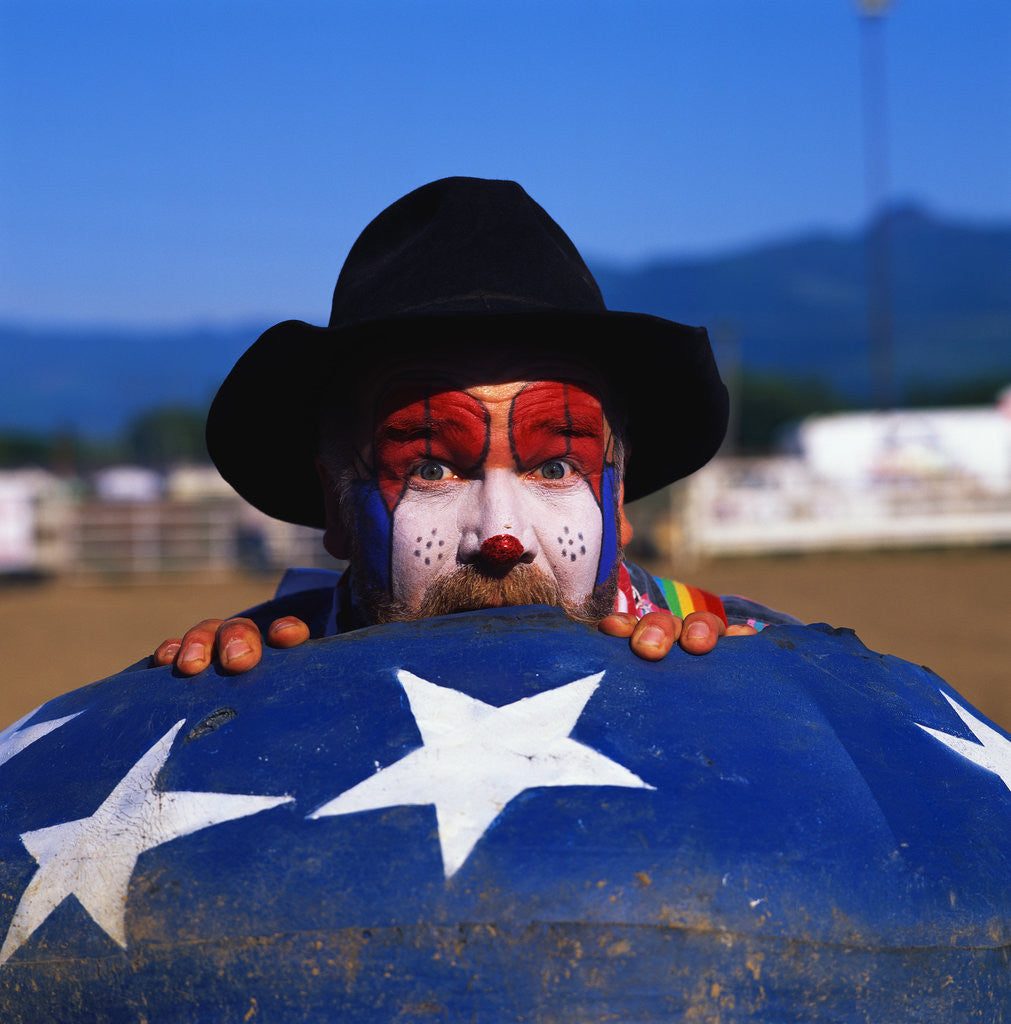 Detail of Rodeo Clown by Corbis