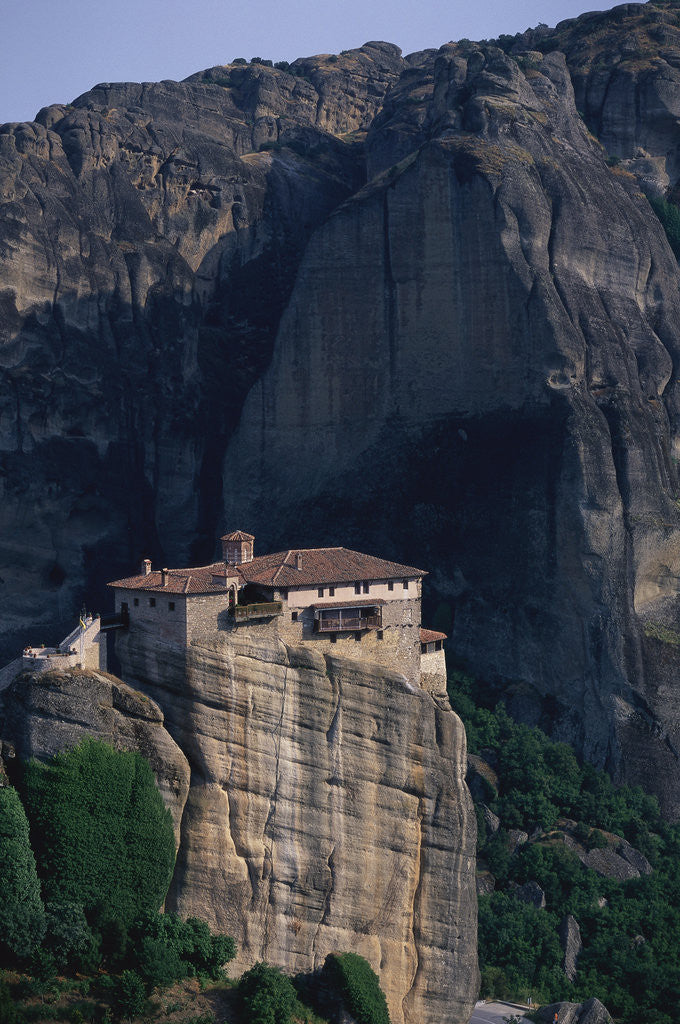Detail of Varlaam Monastery in Greece by Corbis