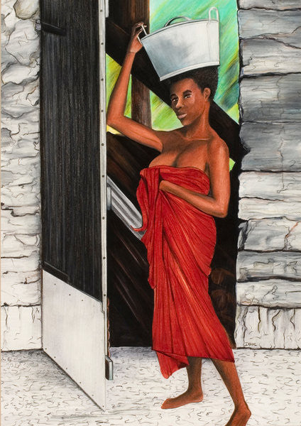 Detail of Draped in Red by Ikahl Beckford