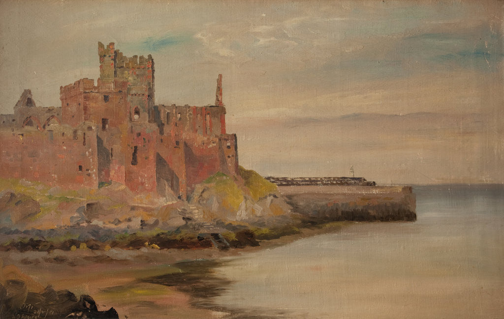 Detail of Peel Castle by John Miller Nicholson