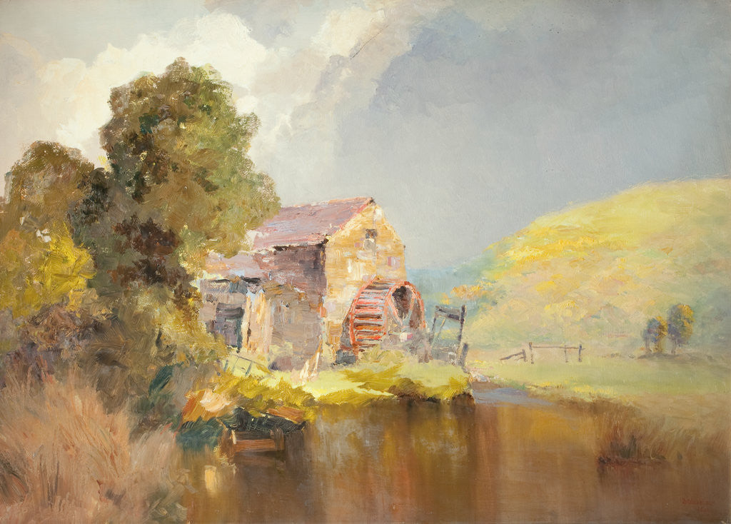 Detail of Baldwin Mill by John Miller Nicholson