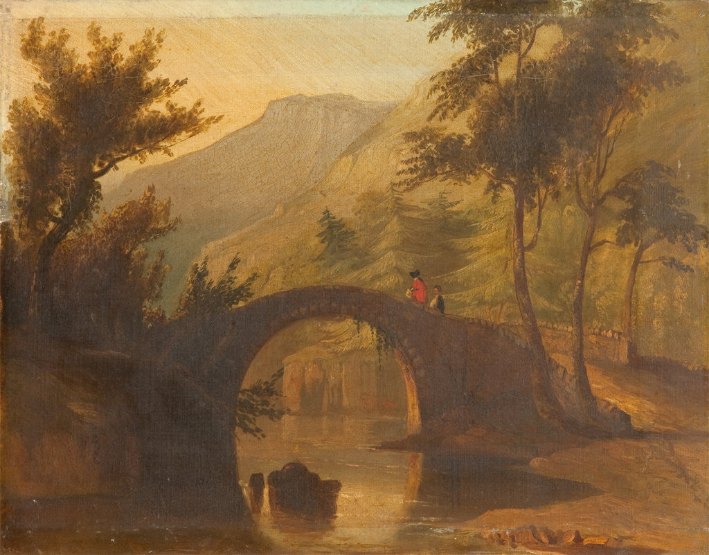 Detail of Sulby Glen old bridge by L. C. Sewell