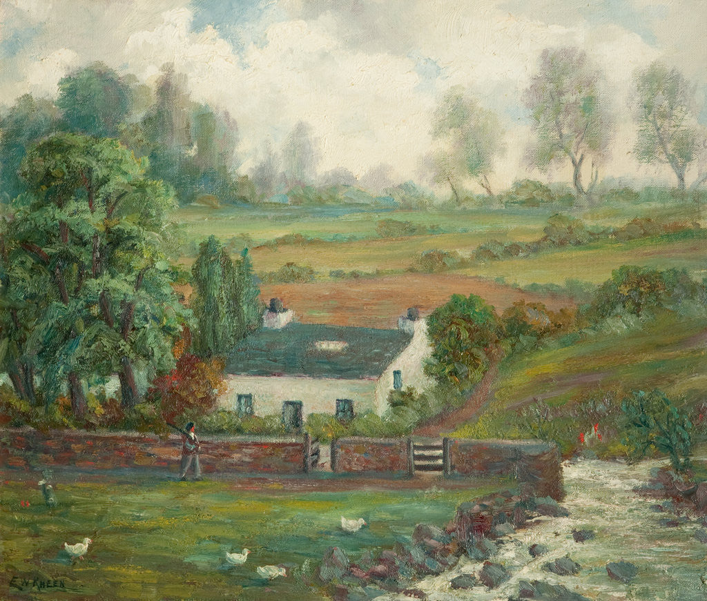 Detail of Cottage near Laxey by E. William Kneen