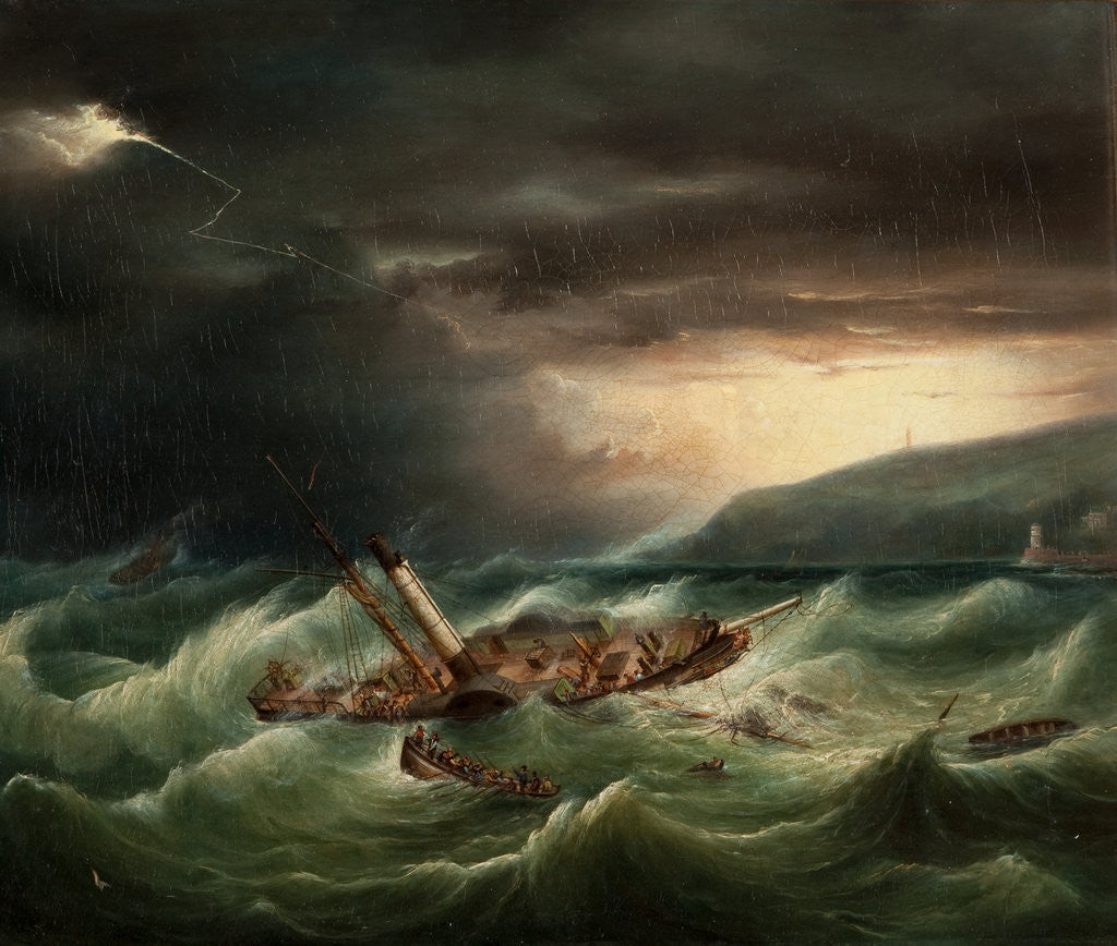 Detail of The Wreck of the St George, 1830 by Anonymous
