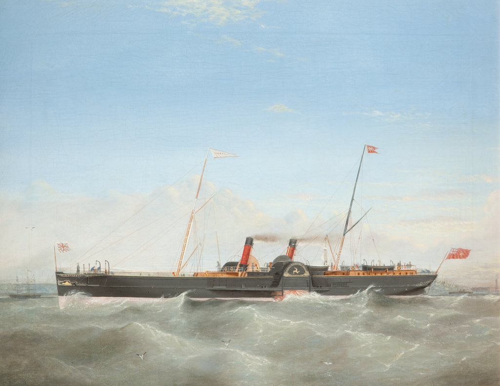 Detail of Paddle Steamer 'Snaefell' by Frederick Gill