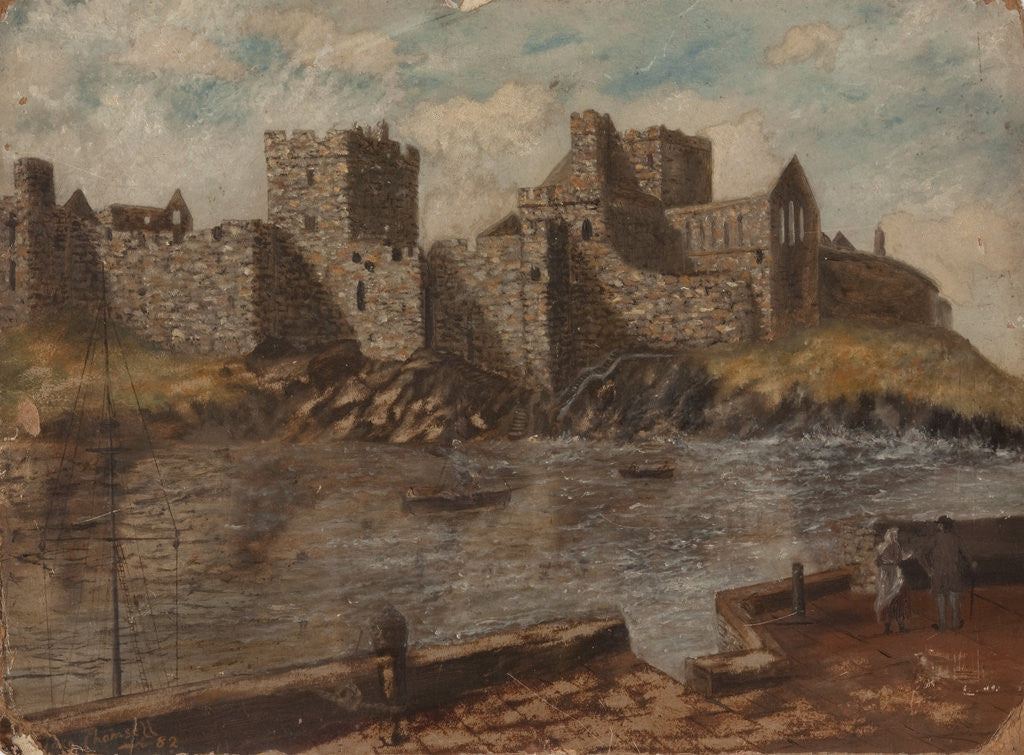 Detail of Peel Castle by Thomas Chansell
