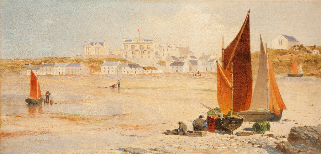 Detail of Port Erin, Rushen by John Miller Nicholson