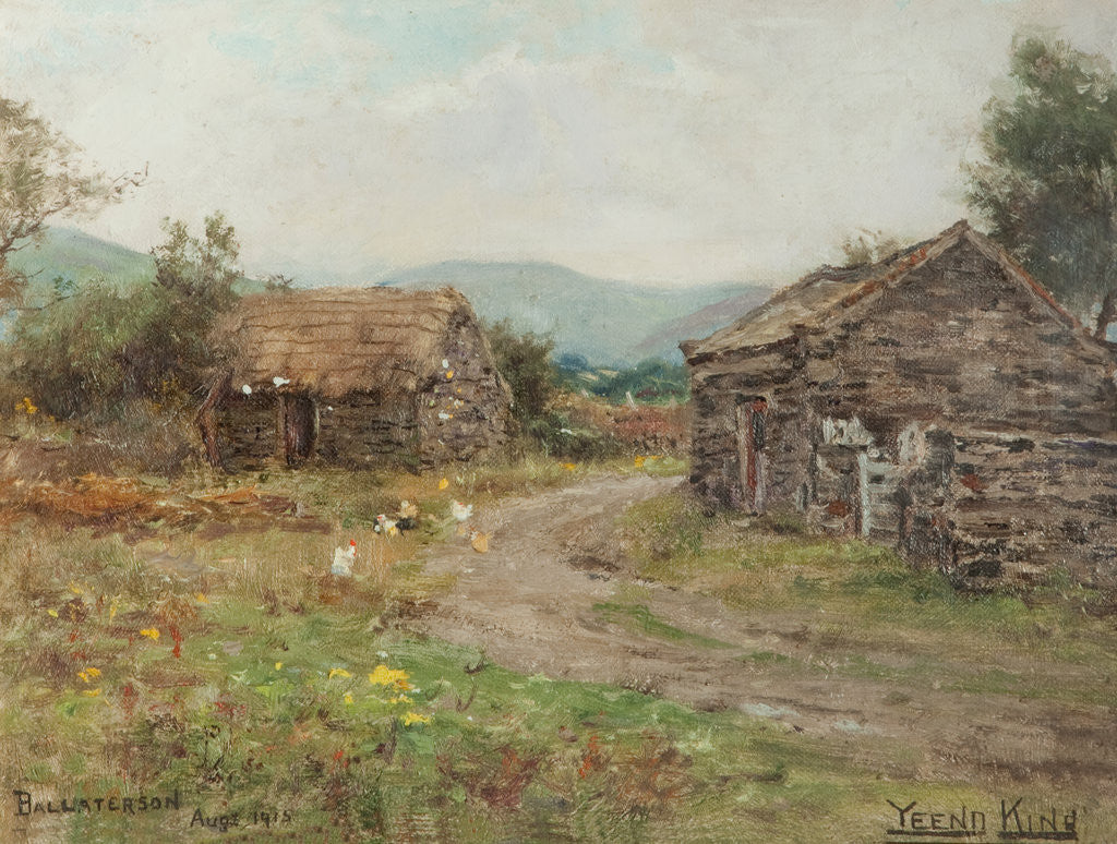 Detail of Cottages at Ballaterson, Ballaugh by Henry John King