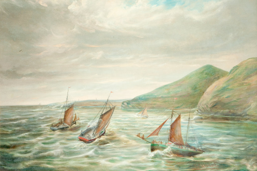 Detail of Fishing Boats off the Santan Coast by William Marsden