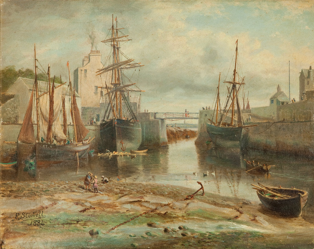 Detail of Castletown Harbour by Flaxney Stowell