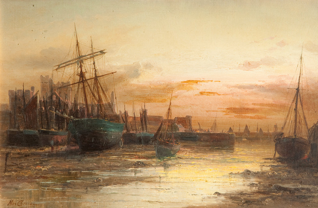 Detail of Peel Castle and Harbour by Max Crouse
