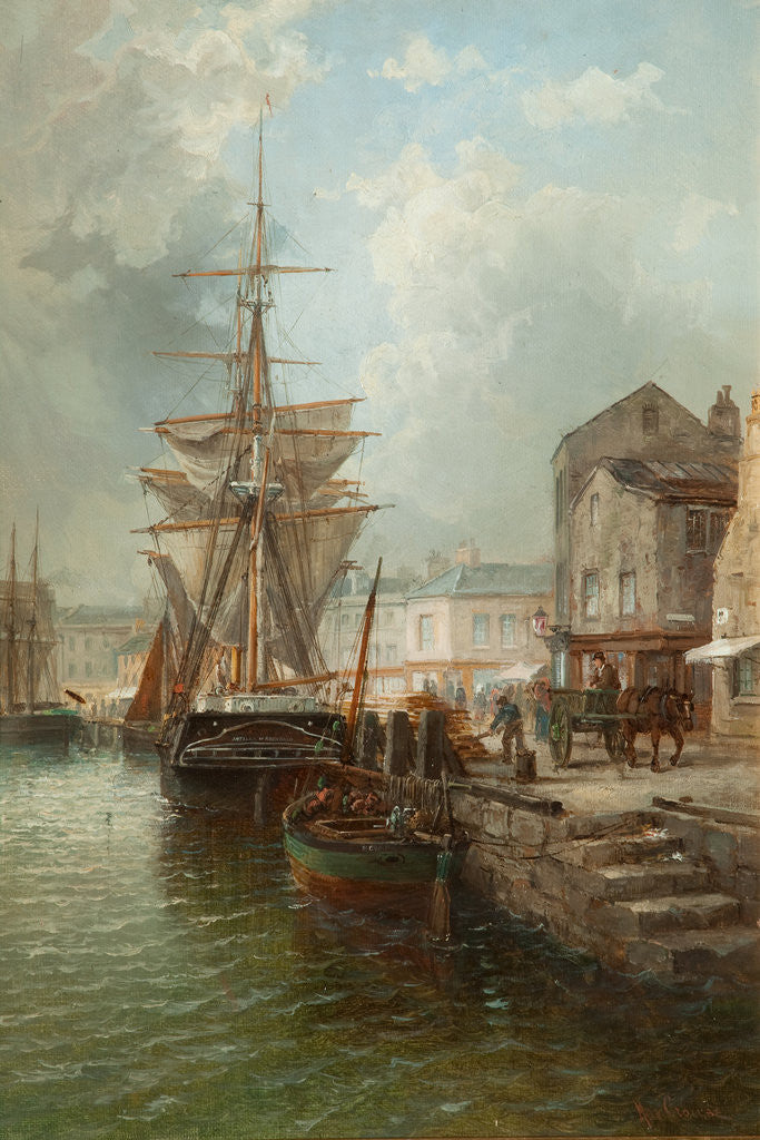 Detail of North Quay, Douglas Harbour by Max Crouse