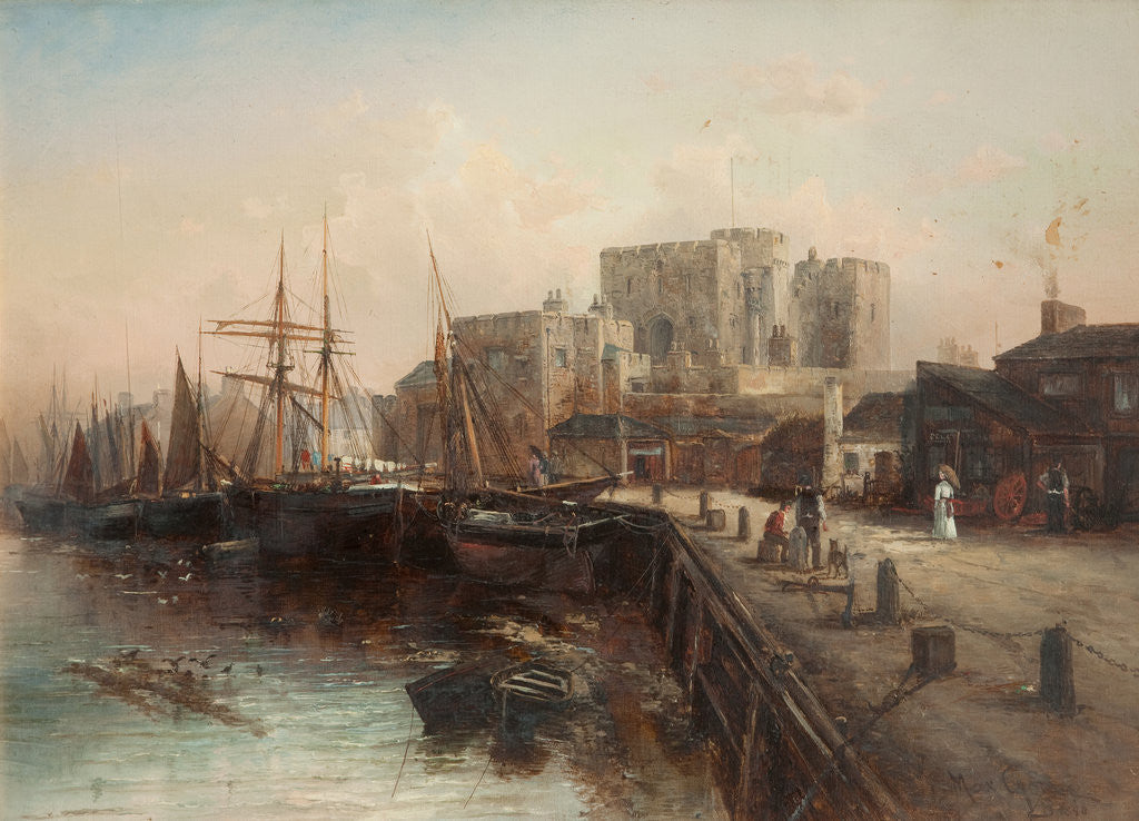 Detail of Castle Rushen and Harbour by Max Crouse