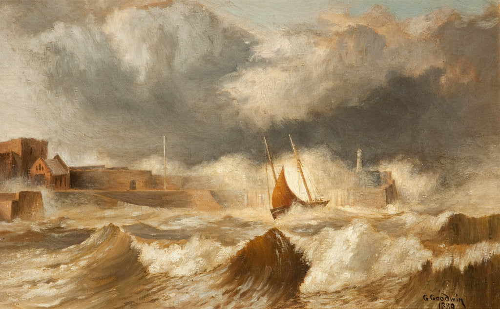 Detail of Peel Breakwater by George Goodwin