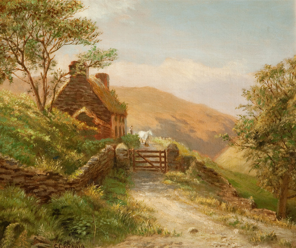 Detail of Cottage in Glen Rushen, Patrick by George Goodwin