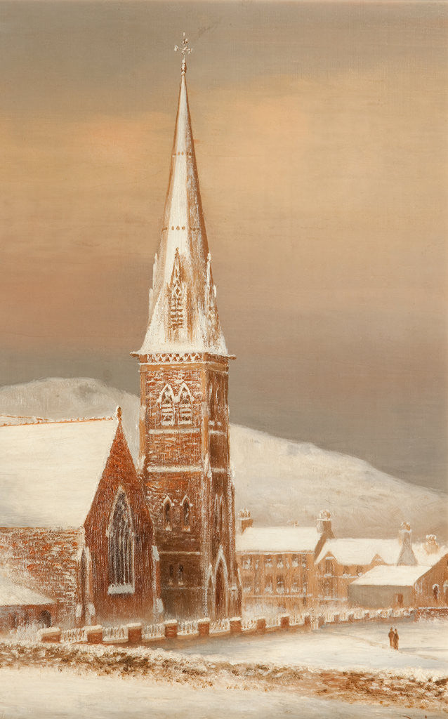 Detail of Peel church December 1890 by George Goodwin