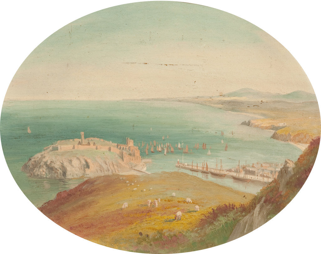 Detail of Peel Castle and Bay by George Goodwin