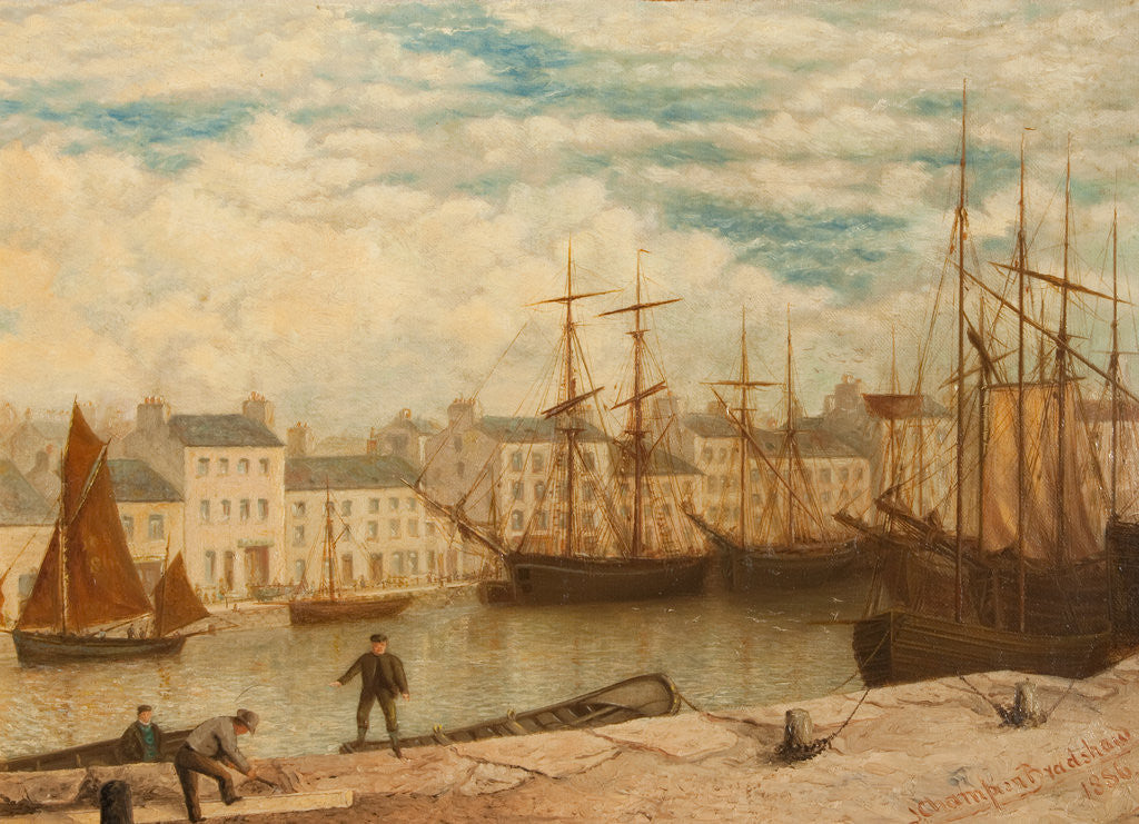 Detail of The North Quay, Douglas by John Champion Bradshaw