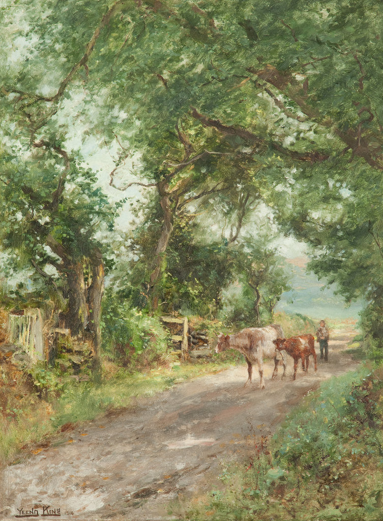 Detail of Curraghs, Ballaterson near Ballaugh by Henry John Yeend King