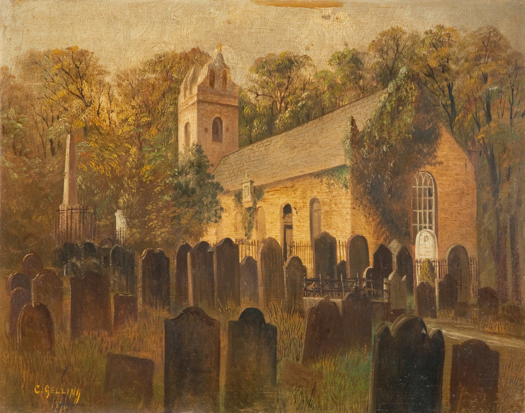 Detail of Old Kirk Braddan by F. C. Gelling
