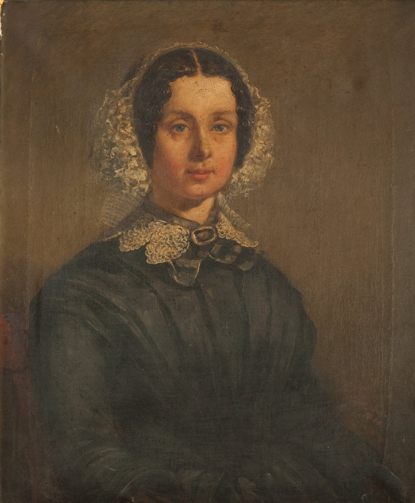 Detail of Mrs John Kay by Louis Kozanecki