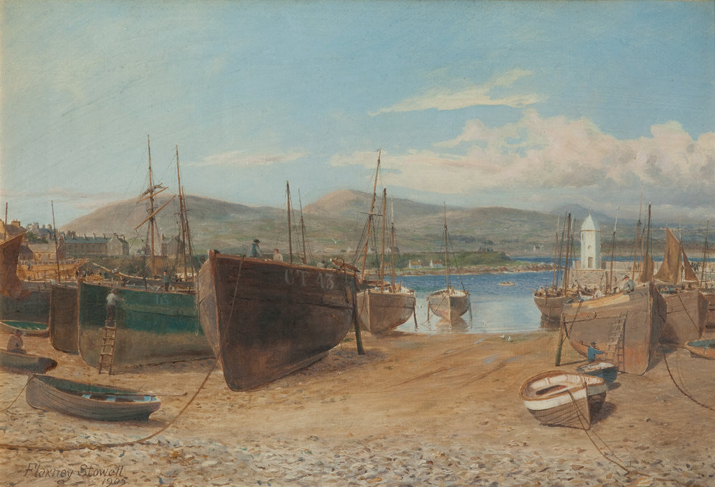 Detail of Port St Mary Harbour by Flaxney Stowell