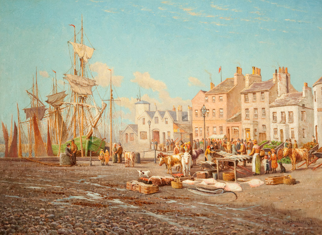 Detail of Ramsey Harbour and Market by John M. Southern