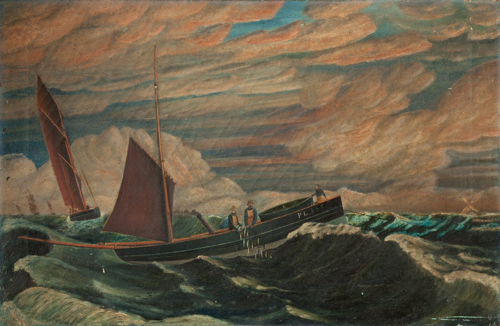Detail of Fishing Boat 'PL 185' by Robert Gell