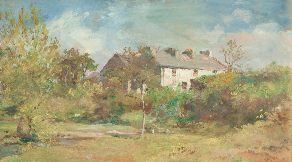 Detail of Cottages at Union Mills, Braddan by John Miller Nicholson