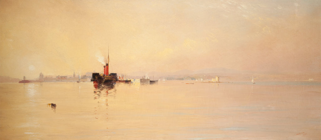 Detail of Douglas Harbour by John Miller Nicholson