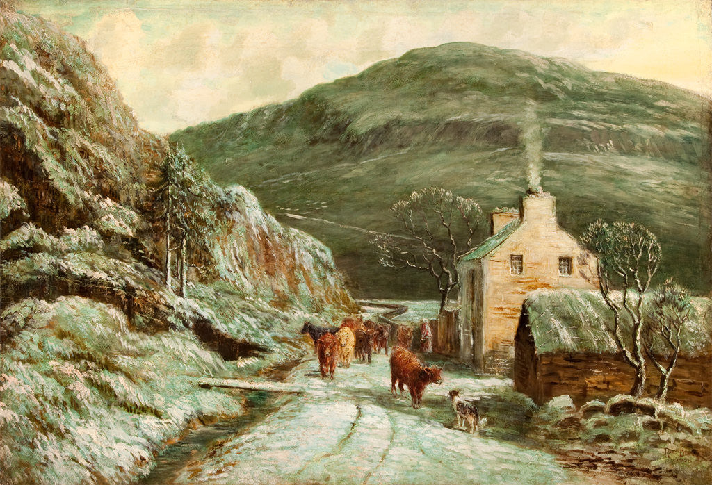 Detail of Polish Cottage on the Sulby River by Raymond Dearn
