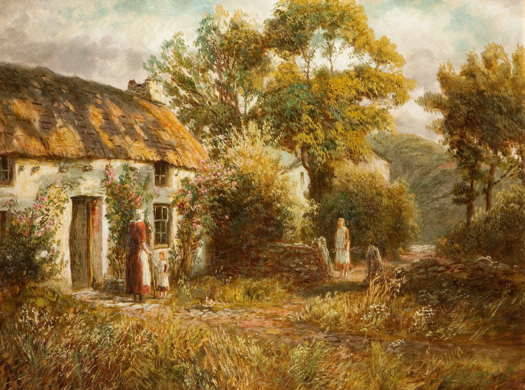 Manx Cottage by Raymond Dearn
