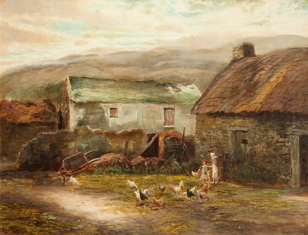 Detail of Old Buildings at Ballamenaugh, Sulby, Isle of Man by Raymond Dearn